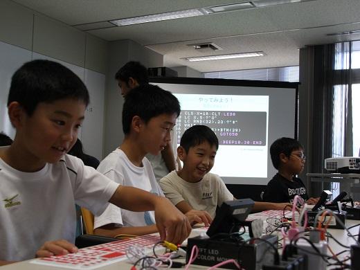 プログラミング教室<br>こどもパソコンIchigoJamでゲーム作り