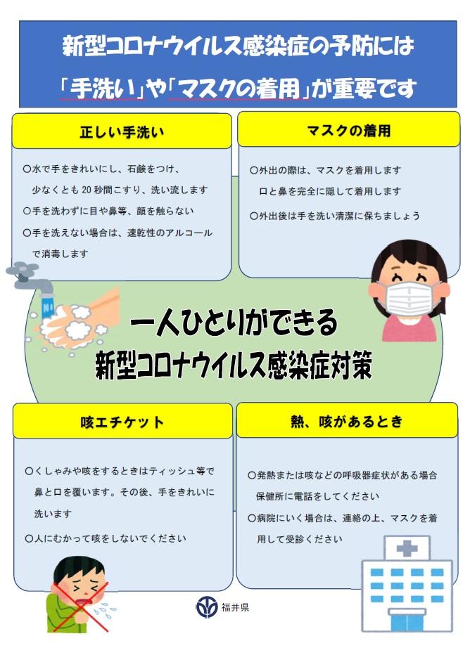 コロナ の 福井 感染 県